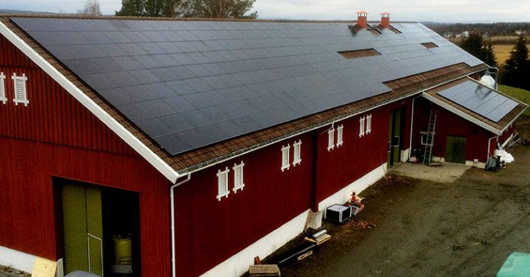 Solceller hos Onsøy Bondelag